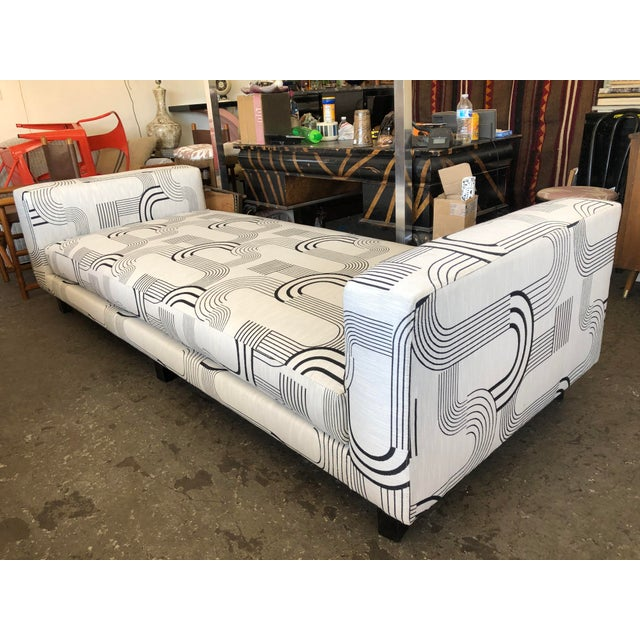 White Black & White Art Deco Style Daybed For Sale - Image 8 of 8
