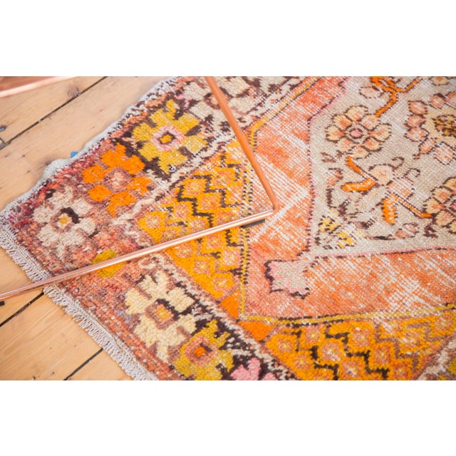 """Old New House Vintage Distressed Oushak Square Rug - 2'10"""" X 4'1"""" For Sale - Image 4 of 11"""