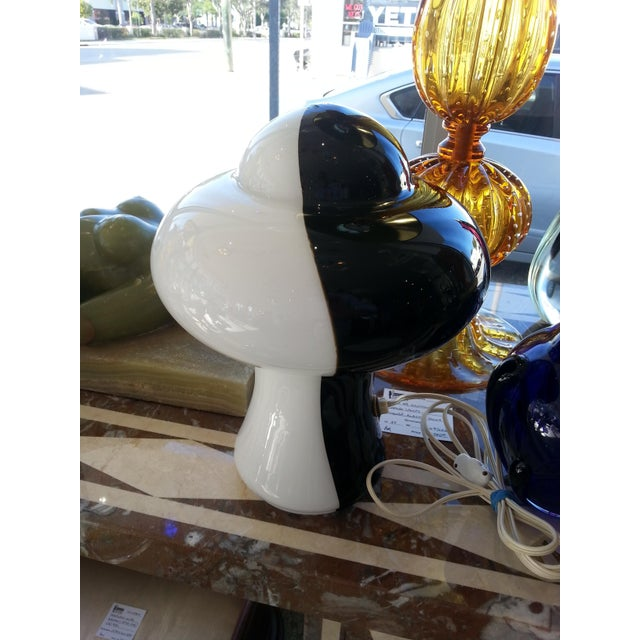 Itri Vetri Murano Glass Lamp Mod Black and White For Sale In West Palm - Image 6 of 7