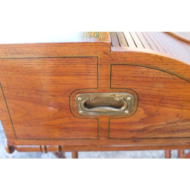 Vintage Campaign Rolltop Desk For Sale - Image 12 of 13