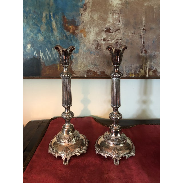 Sterling Judaic Sabbath Candlesticks - a Pair For Sale - Image 13 of 13