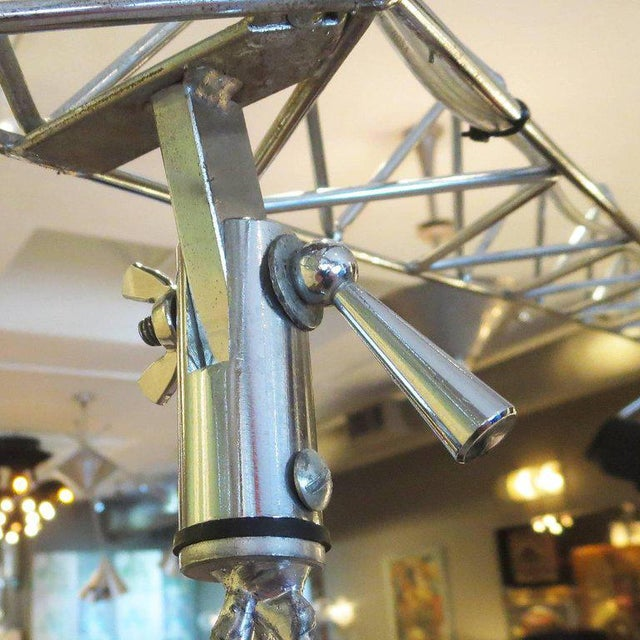 Metal Curtis Jere Large Size Crane Standing Lamp, Signed, 1977 For Sale - Image 7 of 8