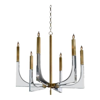 Contemporary Antique Brass Sirius Chandelier For Sale