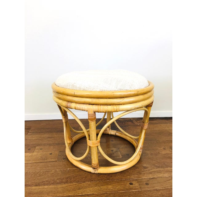 Vintage Rattan Ottoman For Sale In Las Vegas - Image 6 of 6