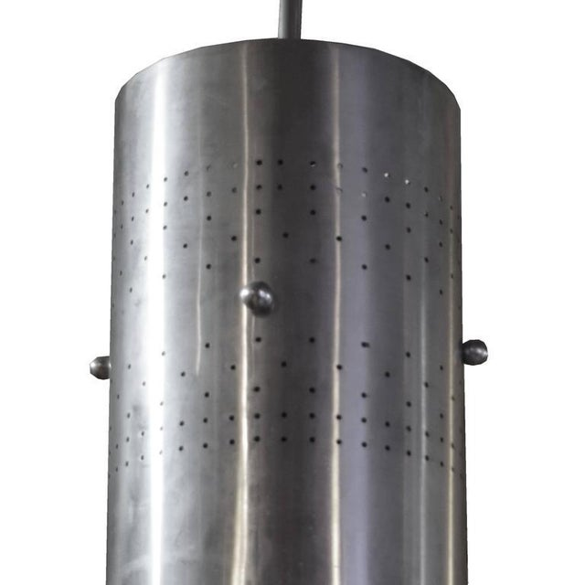 American Mid-Century Cylinder Light Fixture - Image 3 of 4
