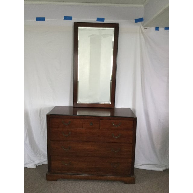 National Mt. Airy Campaign-Style Dresser and Mirror - 2 Pc. For Sale In Washington DC - Image 6 of 6