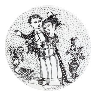 Vintage Bjorn Wiinblad Ceramic Plate For Sale
