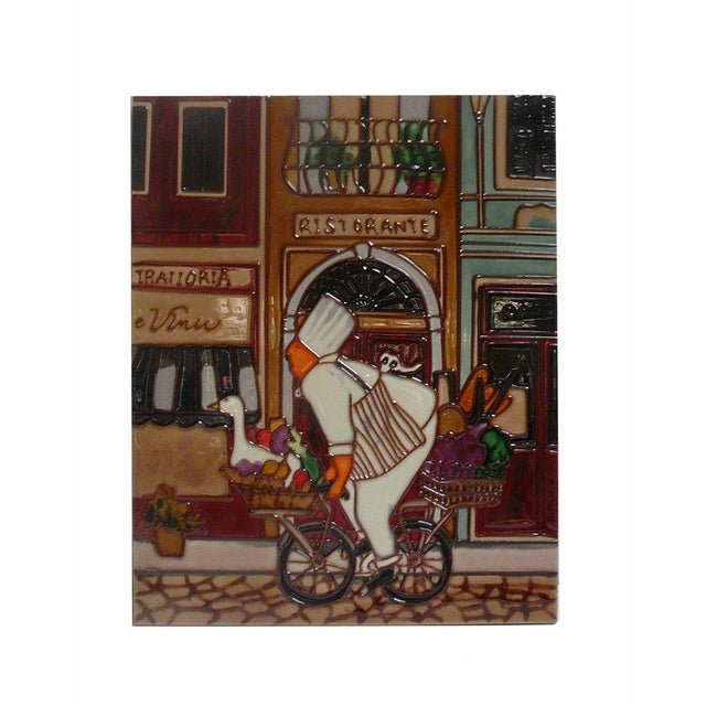 Handcrafter Artist Porcelain Chef Wall Hanging Art For Sale - Image 5 of 5