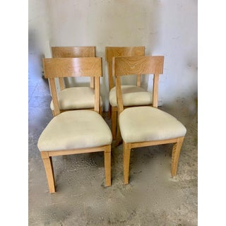Set of Four Cerused Oak Dining Chairs Preview