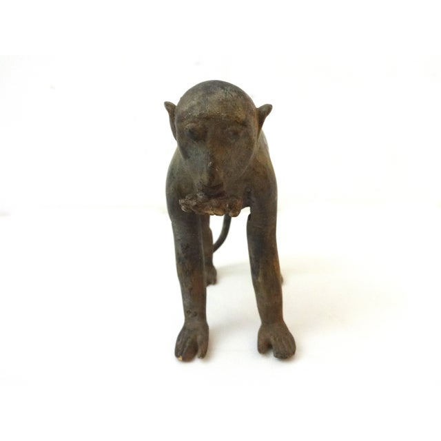 1980s Bronze African Ashanti Akan Sculpture - Monkey For Sale - Image 5 of 7