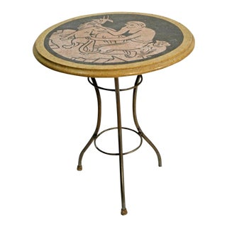 Art Deco Italian Terrazzo Side Table For Sale