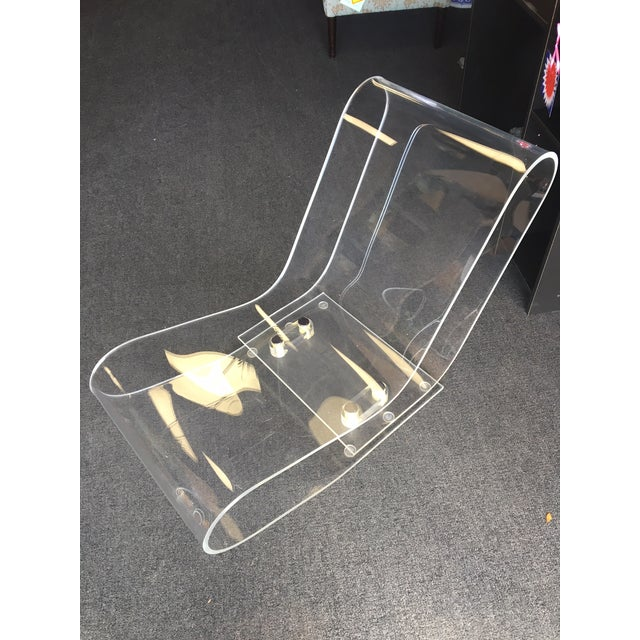 Acrylic Modern Lcp Lucite Chaise Lounge Chair For Sale - Image 7 of 7