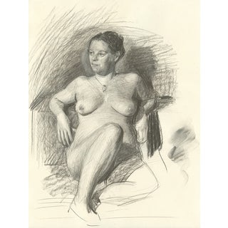 """Gina"" Female Nude Drawing"