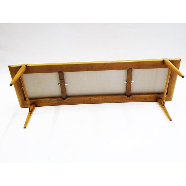 Tomlinson 1950s Tomlinson's Sophisticates Line Mid-Century Modern Walnut Bench For Sale - Image 4 of 13