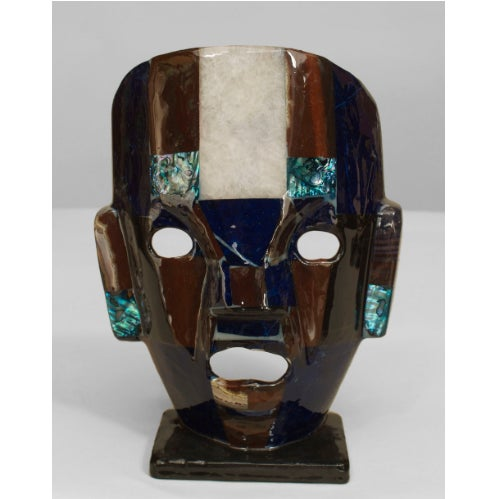 Five Mid-Century Aztec-Inspired Maks of Semi-Precious Stone For Sale In New York - Image 6 of 7