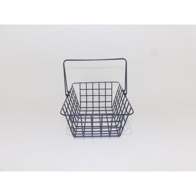 Mid 20th Century Wire Mesh Bathroom Toiletries Basket For Sale - Image 5 of 6