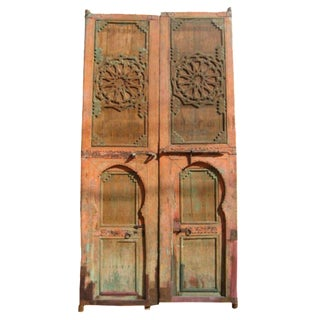 Moroccan Riad Doors - A Pair For Sale