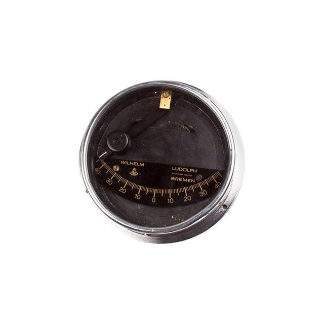 A chrome ship's clinometer made by world-renowned Wilhelm Ludolph/Institut Bremen of Germany and signed as such. These...