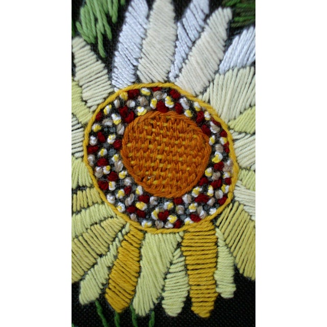 Vintage Sunflowers Original Needlepoint Art - Image 6 of 8