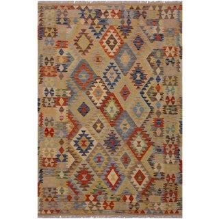 Kilim Ariel Hand-Woven Wool Rug -4'8 X 6'8 For Sale