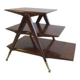 Mid Century Italian Tiered Table For Sale