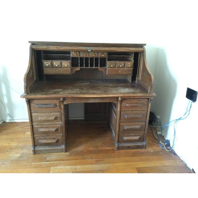 Vintage Jefferson Rolltop Desk For Sale - Image 10 of 10