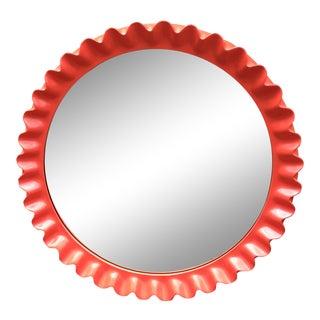 Contemporary Pie Crust Mirror For Sale