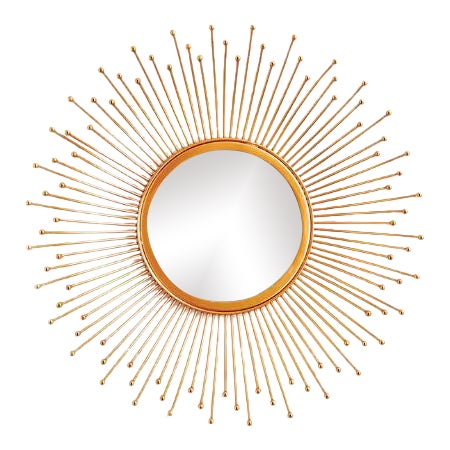 Kenneth Ludwig Celeste Gold Leaf Mirror For Sale