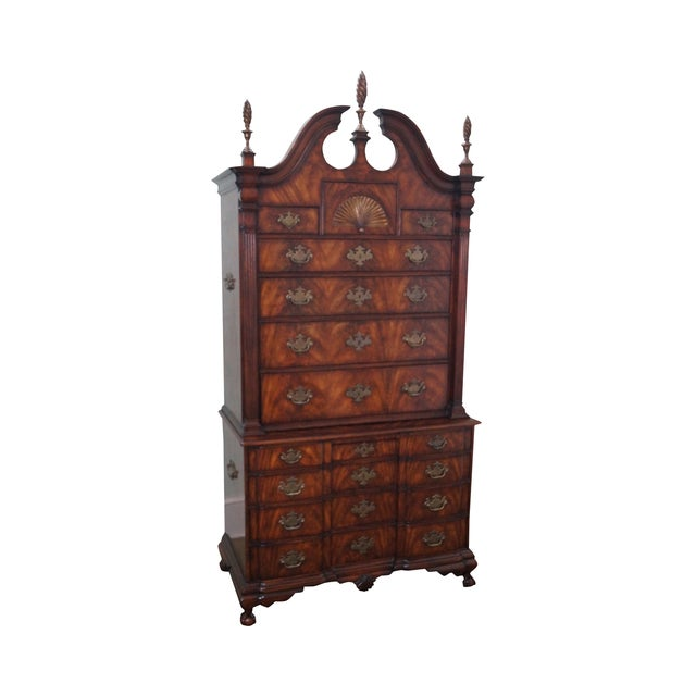 Theodore Alexander Mahogany Chippendale Highboy - Image 1 of 10