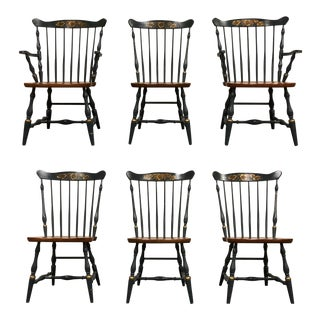 Hitchcock Dining Chairs - Set of 6 For Sale