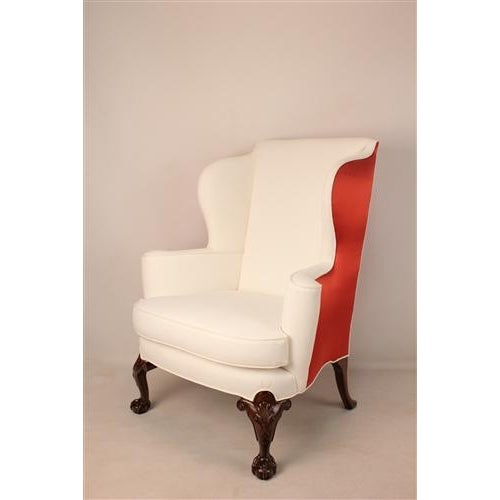 Thomas Chippendale English Wing Chairs - Pair - Image 3 of 3
