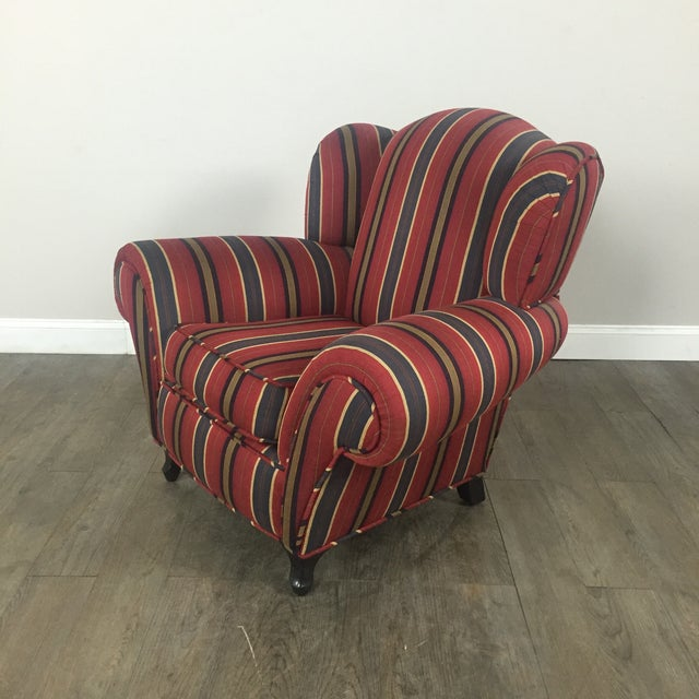 Kravet Club Chairs - A Pair - Image 8 of 11