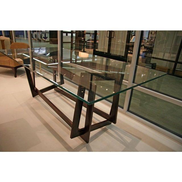 "Glass Raniero Aureli's Custom ""Soqquadro"" Table For Sale - Image 7 of 8"