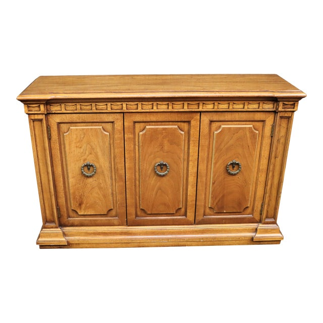 Italian Style Fruitwood Credenza For Sale