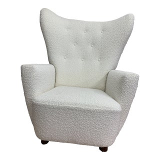 1980s Vintage Wingback Chair For Sale
