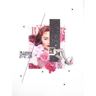 """""""Rose"""" Contemporary Mixed-Media Collage by Emily Hoerdemann For Sale"""