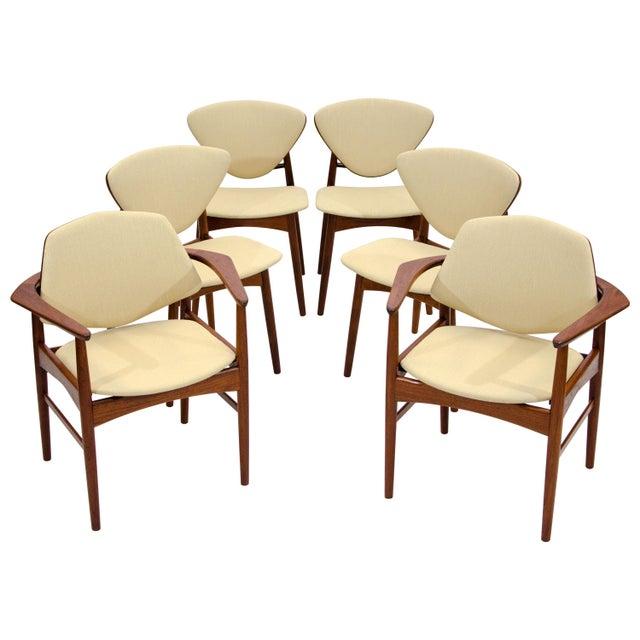 Set of Six Danish Teak Dining Chairs, Arne Hovmand Olsen For Sale - Image 13 of 13