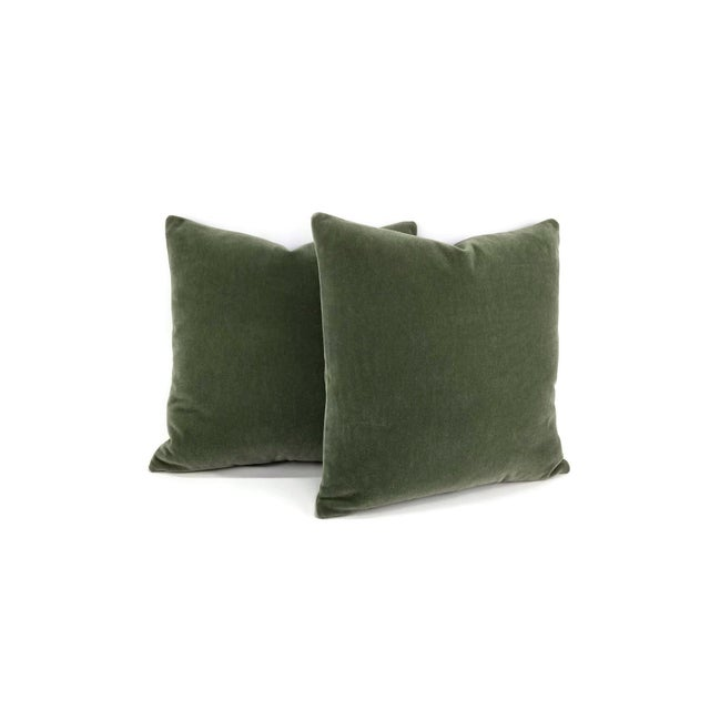 From F. Schumacher is San Carlo Mohair Velvet in the color Moss. This is a luxurious mohair velvet in a lovely green moss...
