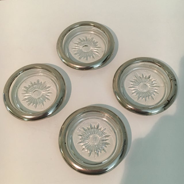 Vintage Leonard Silver Plate Italian Coasters - Set of 4 For Sale In Houston - Image 6 of 6