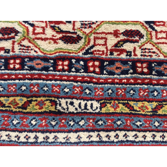 1990s Handknotted Mir Area Rug- 8′7″ × 11′11″ For Sale - Image 4 of 13