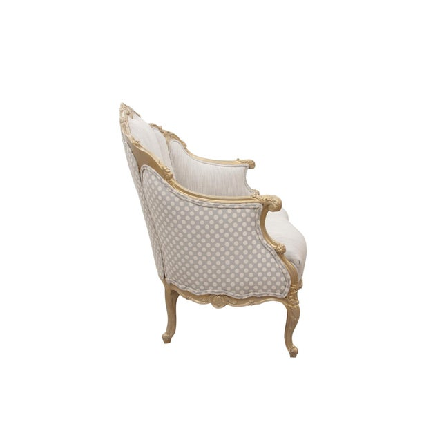 French Kate Spade Upholstered Louis XV Style Settee For Sale - Image 3 of 7