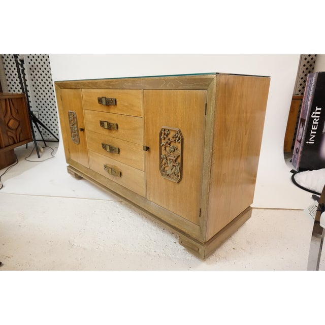 Brown James Mont Style Asian Mid-Century Modern Sideboard For Sale - Image 8 of 8