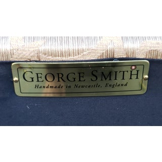 Excellent George Smith Short Scroll Arm Signature Damask Chair Preview