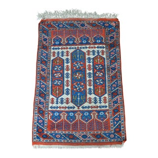 Vintage Turkish Bergama Rug - 2′10″ × 4′7″