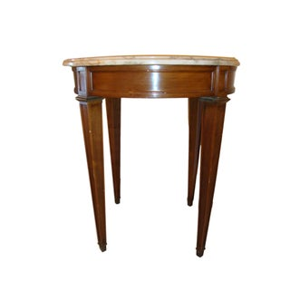 Louis XVI Style Marble Top End Table For Sale