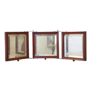 19th Century Victorian 3 Part Dresser Mirror For Sale