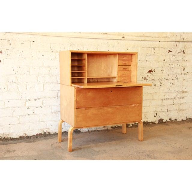 Danish Modern Alvar Aalto 802 Secretary Desk For Sale - Image 3 of 11