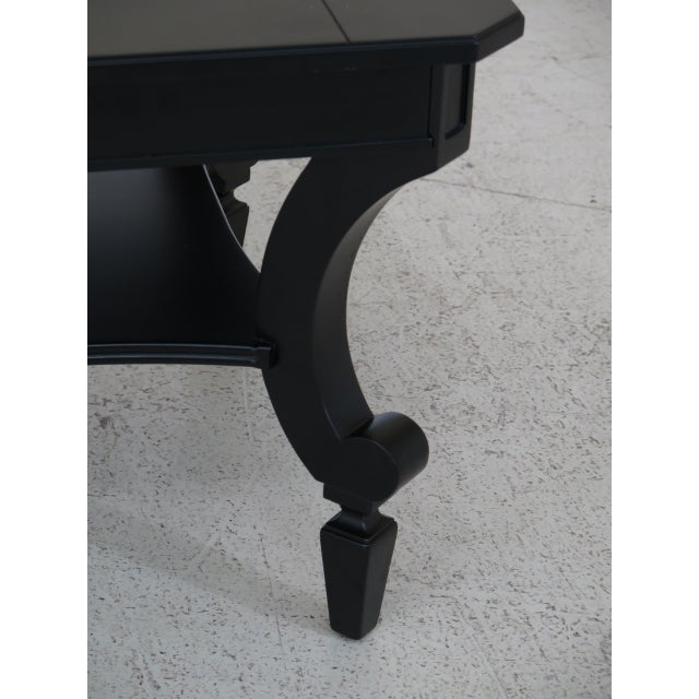 Traditional Contemporary Stanley Black Coffee Table For Sale - Image 3 of 8
