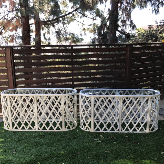 Bamboo Oval Tables - A Pair - Image 3 of 9