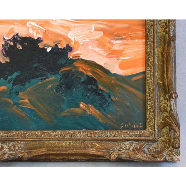 Late 20th Century Juan Pepe Guzman Ojai California Landscape Oil Painting For Sale - Image 5 of 9
